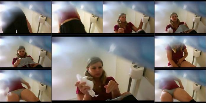 ToiletSpyOfficeBlonde