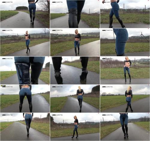 Lara-CumKitten - Sexy Jeans und Stiefelgirl - Ich pisse sooo geil und viel [FullHD 1080P]